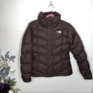 NORTH FACE Brown Puffer Jacket Coat 600 Fill